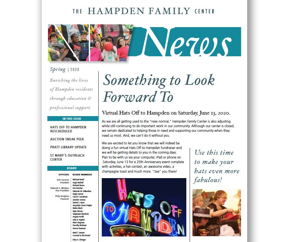 Hampden Family Center Spring 2020 News