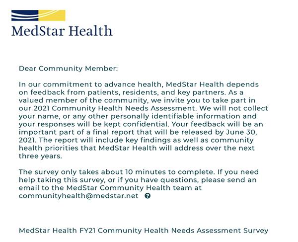 MedStar Health Survey