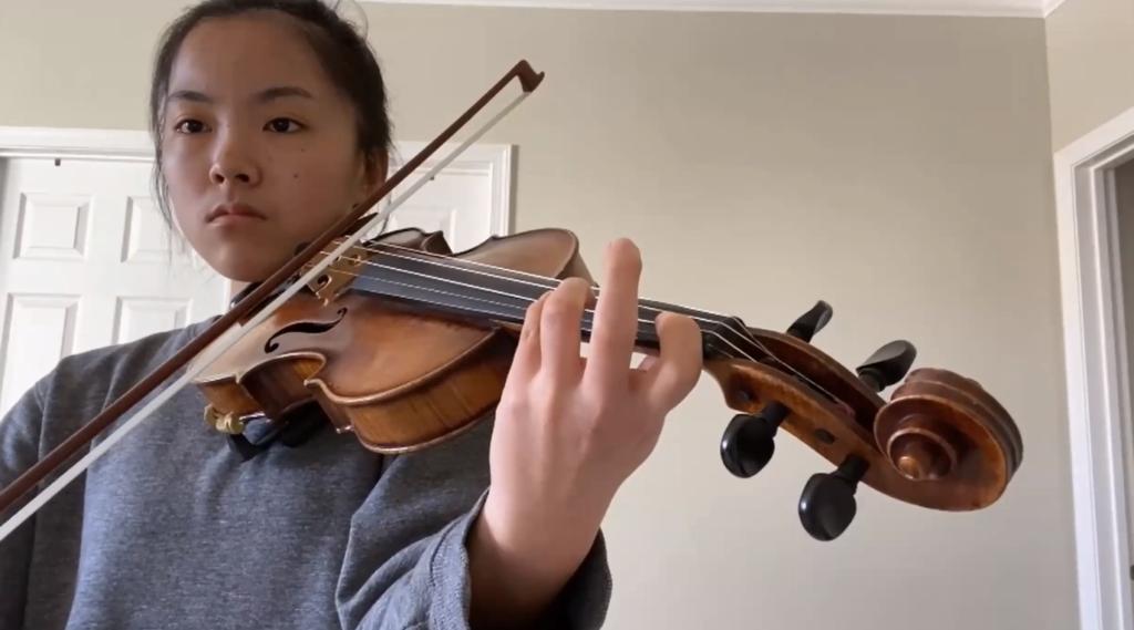 Virtual Community Talent Show - violinist