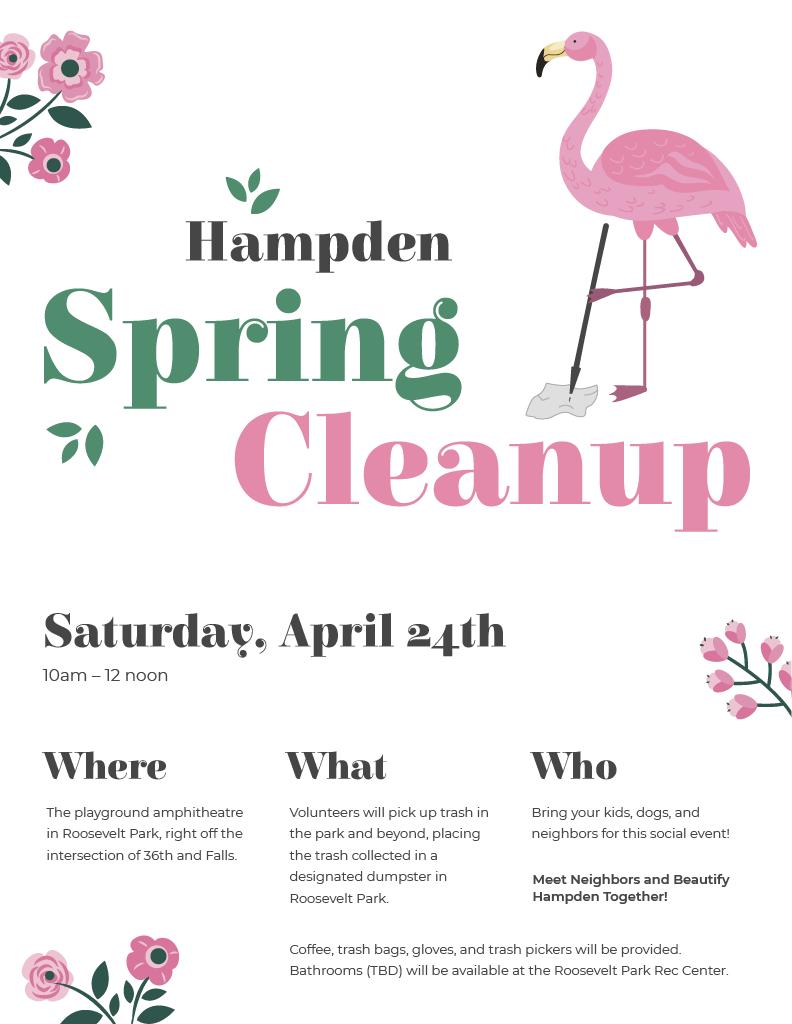 Hampden Spring Cleanup on April 24